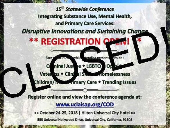 15th Annual Statewide Integrated Care Conference - Open for Registration